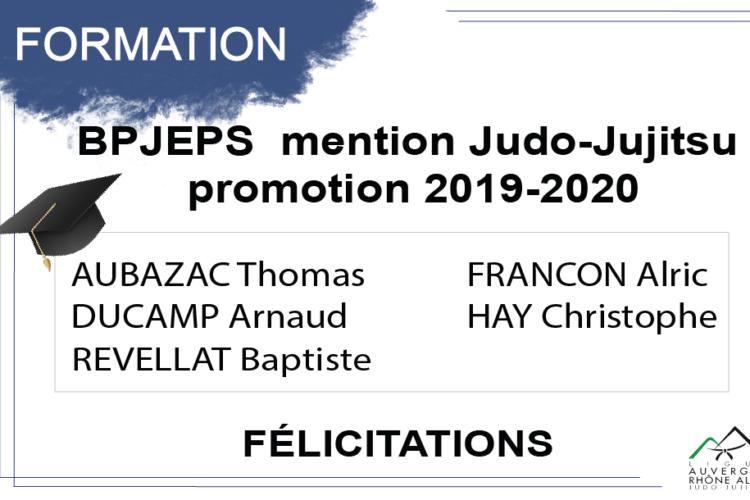 Fin de formation BPJEPS  promotion 2019-2020
