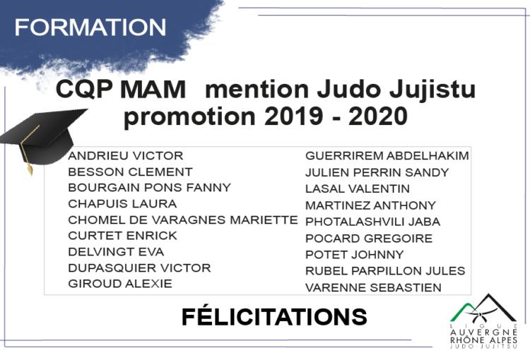 Fin de formation CQP MAM promotion 2019-2020