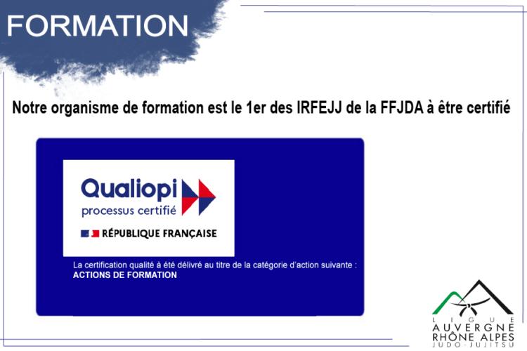 Notre organisme de formation a été certifié Qualiopi, le Référentiel National sur la Qualité des organismes PAC