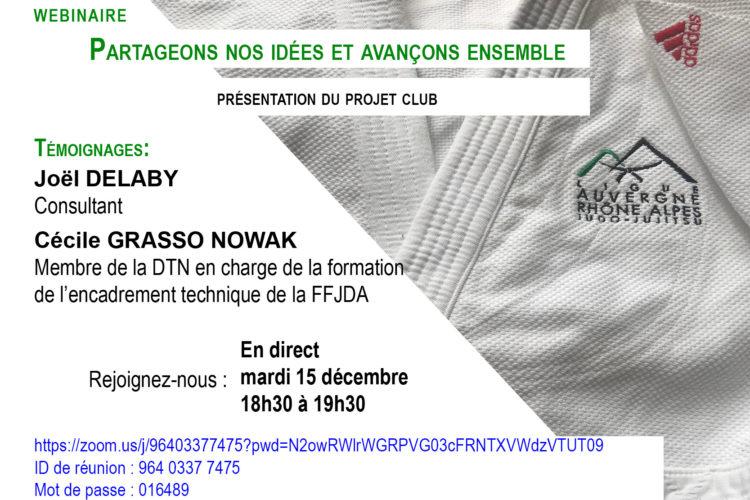 Webinaire du 15 décembre: présentation du projet club