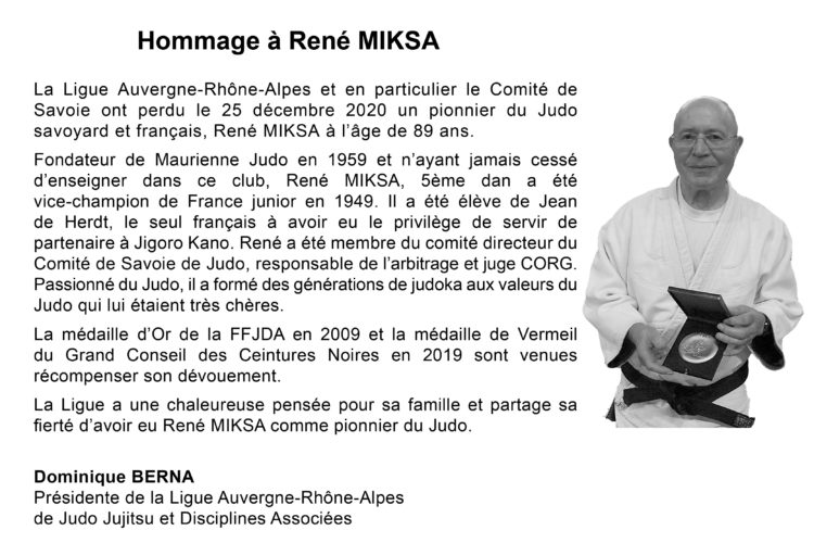 Hommage à René MIKSA