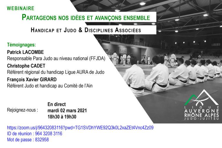 Webinaire du 02 mars 2021: Handicap et Judo & Disciplines Associées