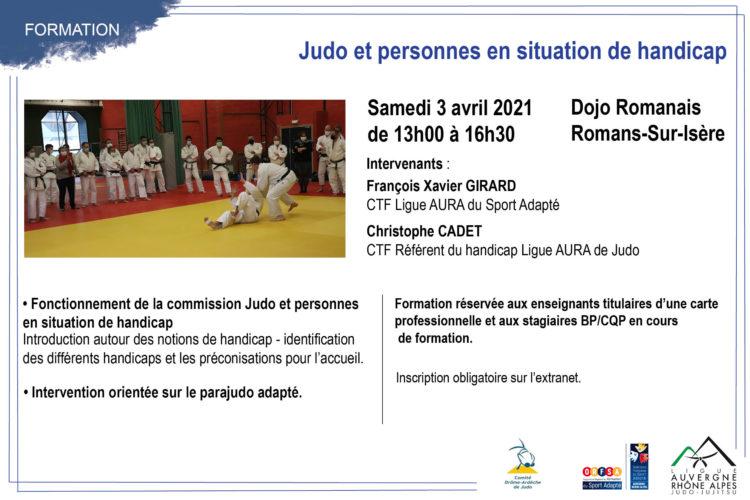 Formation Judo et personnes en situation de handicap, 03 avril 2021