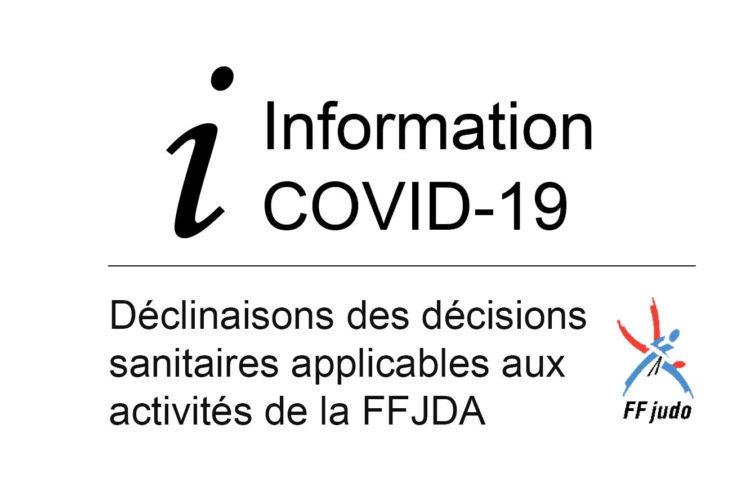 Les déclinaisons des décisions sanitaires applicables aux activités de la FFJDA pour le mois de confinement- 8 avril