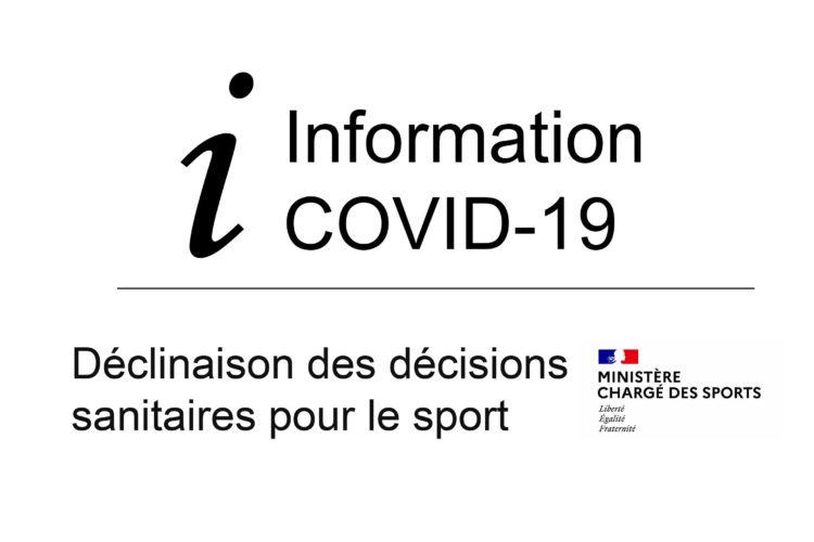 Déclinaisons des décisions sanitaires pour le sport à partir du 19 mai _ maj le 12mai