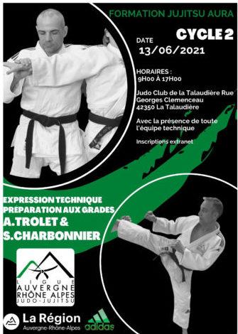 Formation perfectionnement Jujitsu 2021, 3 ème session : expression technique préparation aux grades