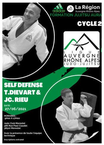 Formation perfectionnement Jujitsu 2021, 4ème et dernière session : self défense
