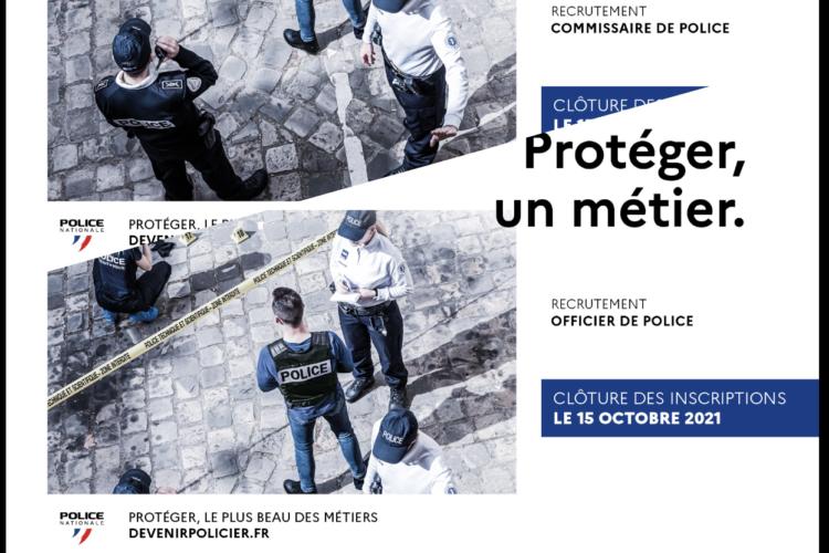 Notre partenaire : La police nationale recrute 400 officiers et des commissaires pour 2022